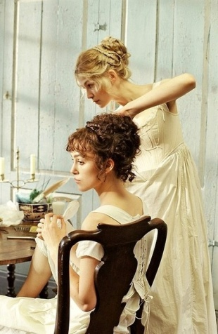 Pride and Prejudice: Elizabeth and Jane Getting Ready While Wearing Corsets