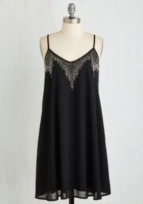 1920s style beaded black dress