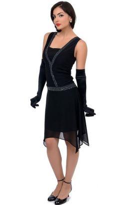 Vintage Style 1920s black dress