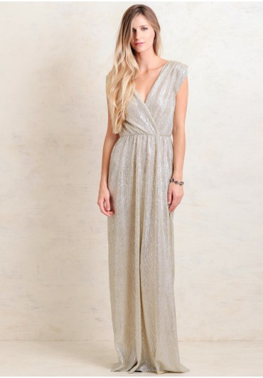 Sparkly metallic maxi dress