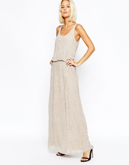 Sequin and embellished maxi dress