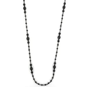 1920s style long black necklace