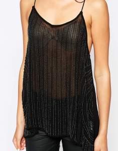 Embellished Black Cami
