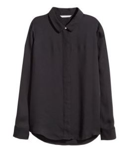 Long-sleeved black shirt