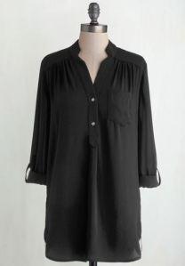 Buttoned black tunic