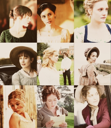 Jane Austen Heroines collage