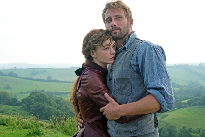 Far From the Madding Crowd 2015 movie: Bathsheba wearing leather jacket