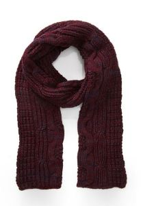 Marled burgundy and navy scarf