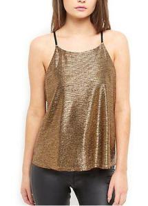 Gold metallic cami