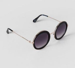 Round sunglasses in black