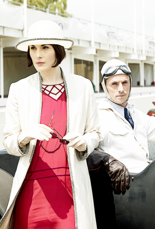 Lady Mary with sunglasses: Downton Abbey