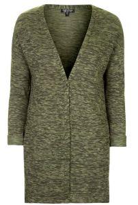 Olive green space dye cardigan