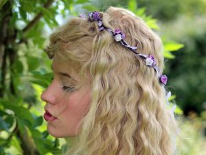 Lilac and rose flower crown