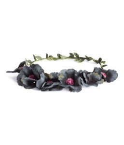 headband with gray flowers