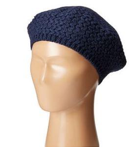 Blue stitch beret