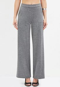 Heathered grey wide-leg pants