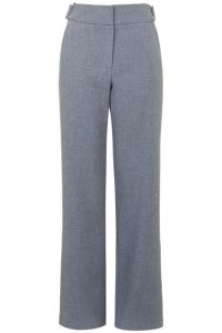 wide-leg pants in grey