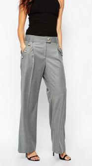 Wide-leg pants in gray