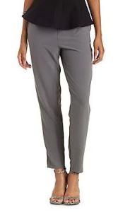 High-waisted ankle trousers in gray
