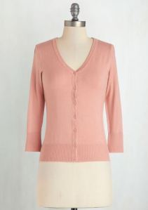 Pink button up cardigan