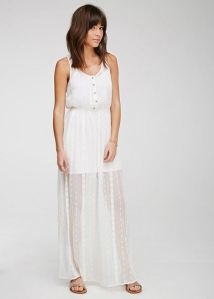 white embroidered gauze maxi dress from Forever 21