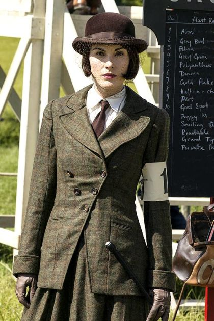 Lady Mary Crawley Downton Abbey: tweed riding habit