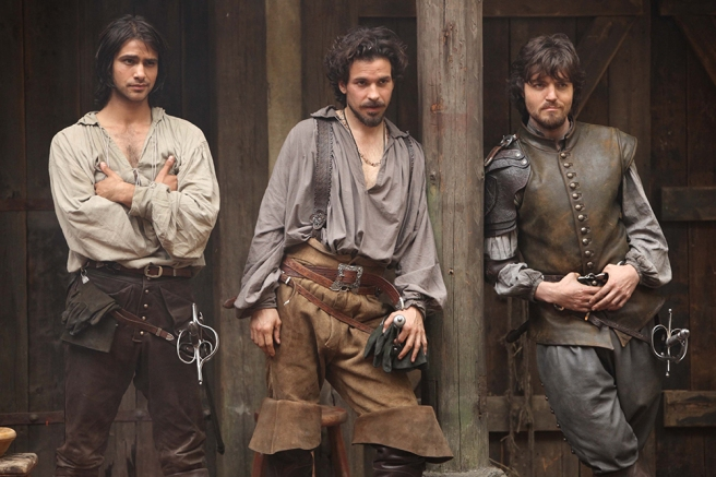 Aramis-D'Artagnan-Athos from The Musketeers BBC