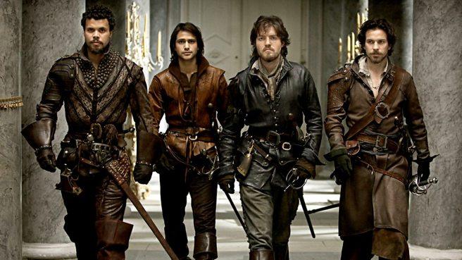 The Musketeers BBC: Athos-D'Artagnan-Aramis-Porthos