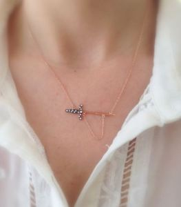 Rose Gold Sword Necklace