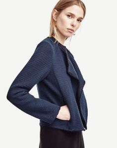 navy blue tweed jacket