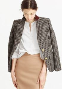 houndstooth tweed blazer
