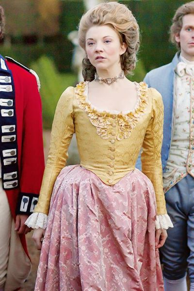 The Scandalous Lady W Movie Costume: Pink and Yellow